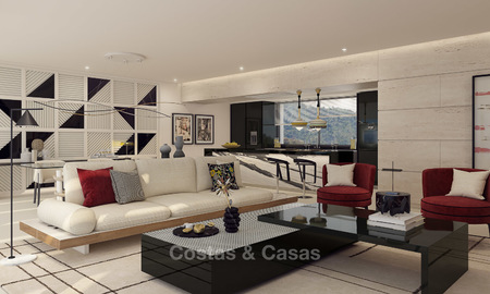Modern-contemporary luxury apartments with exquisite sea views for sale, short drive to Marbella centre. 4950