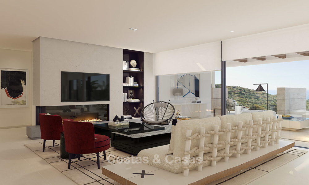 Modern-contemporary luxury apartments with exquisite sea views for sale, short drive to Marbella centre. 4954