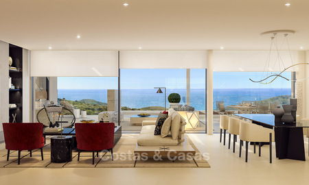 Modern-contemporary luxury apartments with exquisite sea views for sale, short drive to Marbella centre. 4955