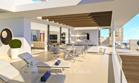 Modern-contemporary luxury apartments with exquisite sea views for sale, short drive to Marbella centre. 4956