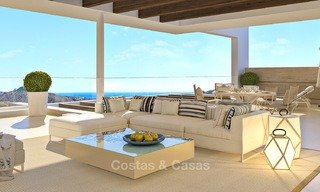 Modern-contemporary luxury apartments with exquisite sea views for sale, short drive to Marbella centre. 4957