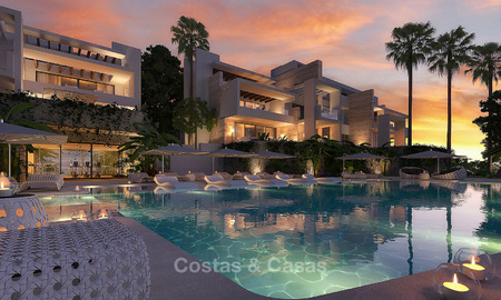 Modern-contemporary luxury apartments with exquisite sea views for sale, short drive to Marbella centre. 4966