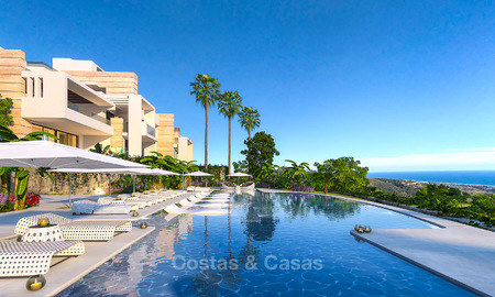 Modern-contemporary luxury apartments with exquisite sea views for sale, short drive to Marbella centre. 4967