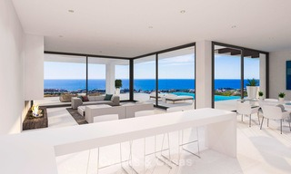 New modern-contemporary villas for sale, panoramic sea views, on the New Golden Mile between Marbella and Estepona 5103