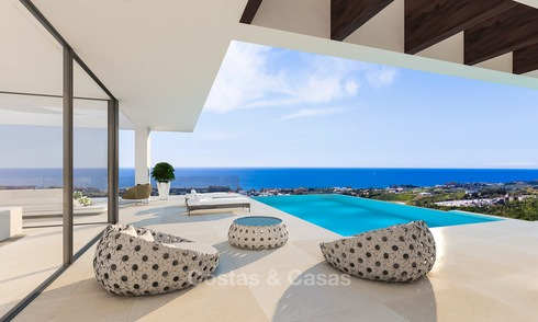 New modern-contemporary villas for sale, panoramic sea views, on the New Golden Mile between Marbella and Estepona 5106