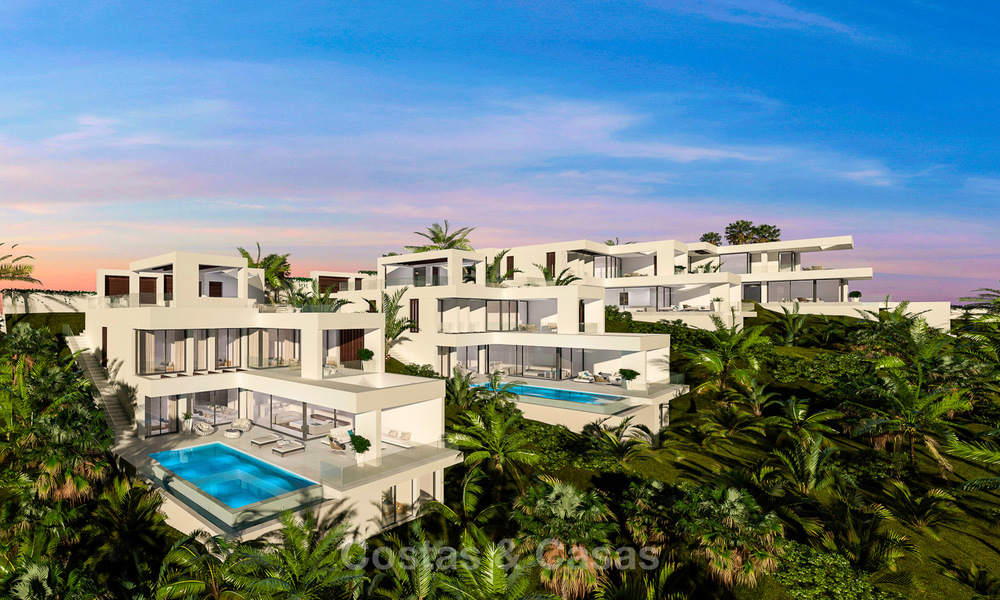 New modern-contemporary villas for sale, panoramic sea views, on the New Golden Mile between Marbella and Estepona 5105