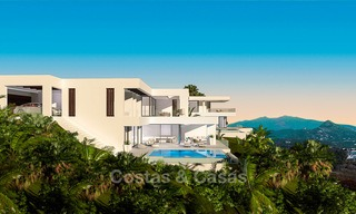 New modern-contemporary villas for sale, panoramic sea views, on the New Golden Mile between Marbella and Estepona 5108