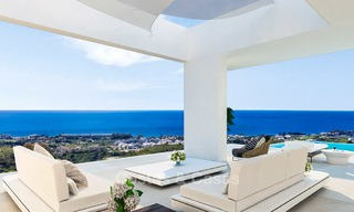 New modern-contemporary villas for sale, panoramic sea views, on the New Golden Mile between Marbella and Estepona 5109