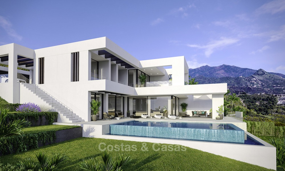 New modern-contemporary villas for sale, panoramic sea views, on the New Golden Mile between Marbella and Estepona 13982