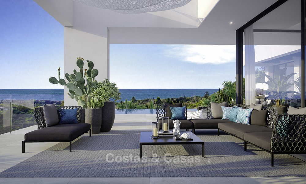 New modern-contemporary villas for sale, panoramic sea views, on the New Golden Mile between Marbella and Estepona 13983