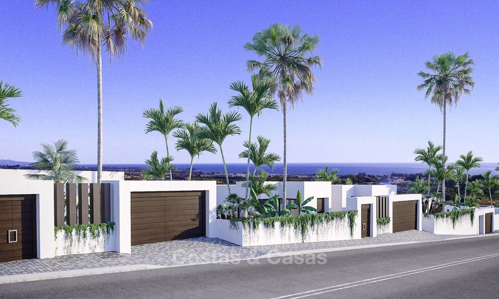 New modern-contemporary villas for sale, panoramic sea views, on the New Golden Mile between Marbella and Estepona 13986