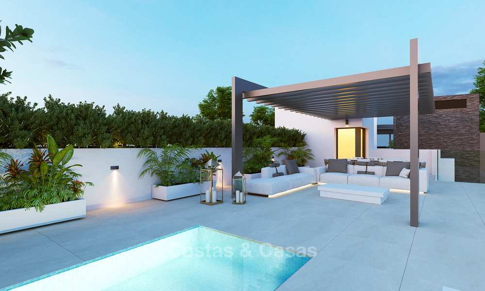 Exclusive new luxury apartments for sale, contemporary design and with sea views, in Benahavis - Marbella 5087