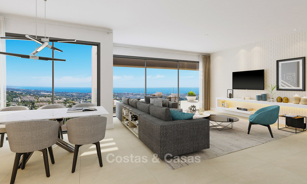 Exclusive new luxury apartments for sale, contemporary design and with sea views, in Benahavis - Marbella 5088