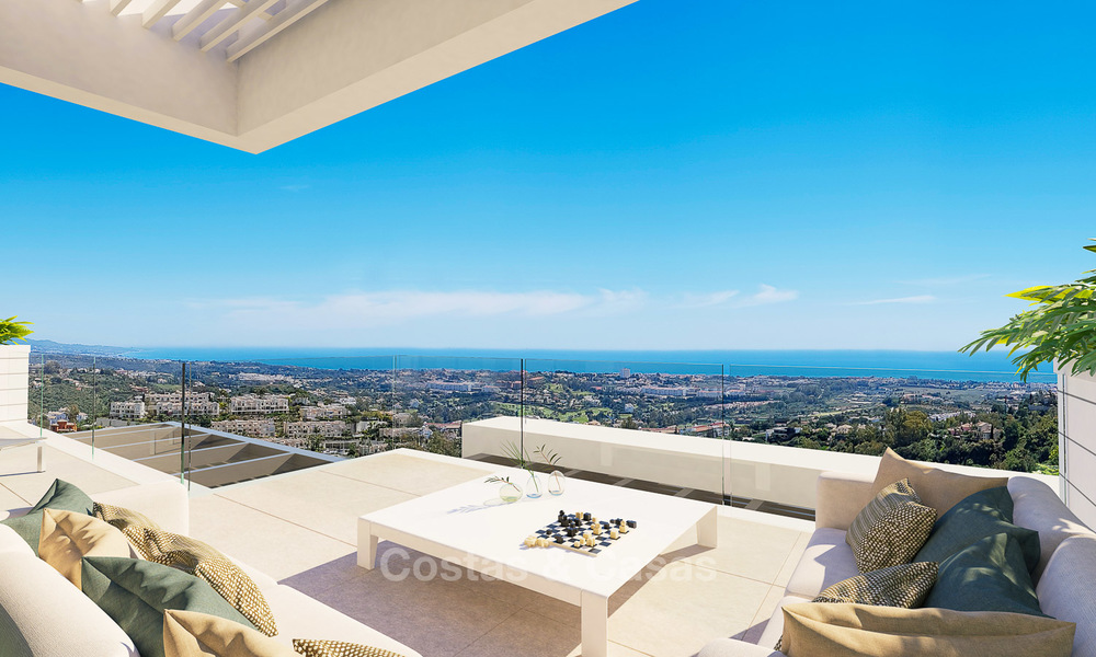 Exclusive new luxury apartments for sale, contemporary design and with sea views, in Benahavis - Marbella 5089