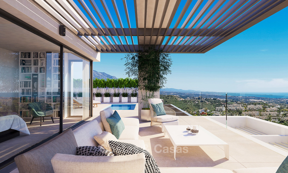 Exclusive new luxury apartments for sale, contemporary design and with sea views, in Benahavis - Marbella 5090