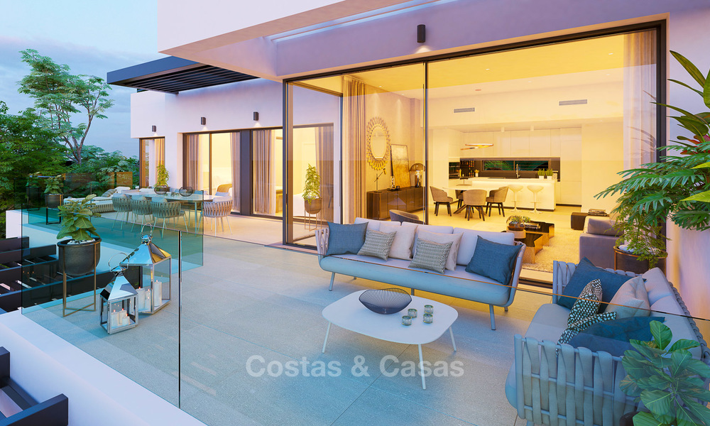 Exclusive new luxury apartments for sale, contemporary design and with sea views, in Benahavis - Marbella 5091