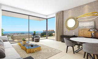 Exclusive new luxury apartments for sale, contemporary design and with sea views, in Benahavis - Marbella 5092