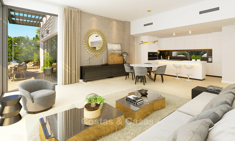 Exclusive new luxury apartments for sale, contemporary design and with sea views, in Benahavis - Marbella 5093
