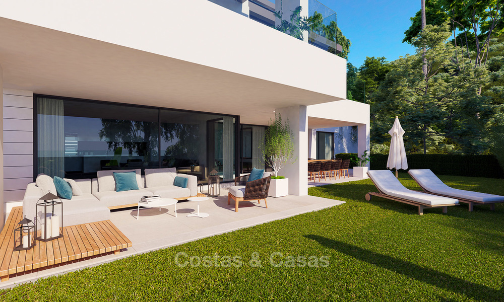 Exclusive new luxury apartments for sale, contemporary design and with sea views, in Benahavis - Marbella 5096