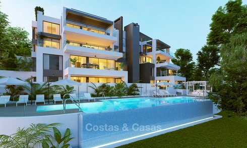 Exclusive new luxury apartments for sale, contemporary design and with sea views, in Benahavis - Marbella 5097