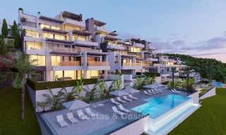 Exclusive new luxury apartments for sale, contemporary design and with sea views, in Benahavis - Marbella 5098