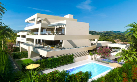 New modern luxury apartments with sea views for sale, Marbella. Walking distance to golf and beach. 5110