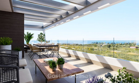 New modern luxury apartments with sea views for sale, Marbella. Walking distance to golf and beach. 5111