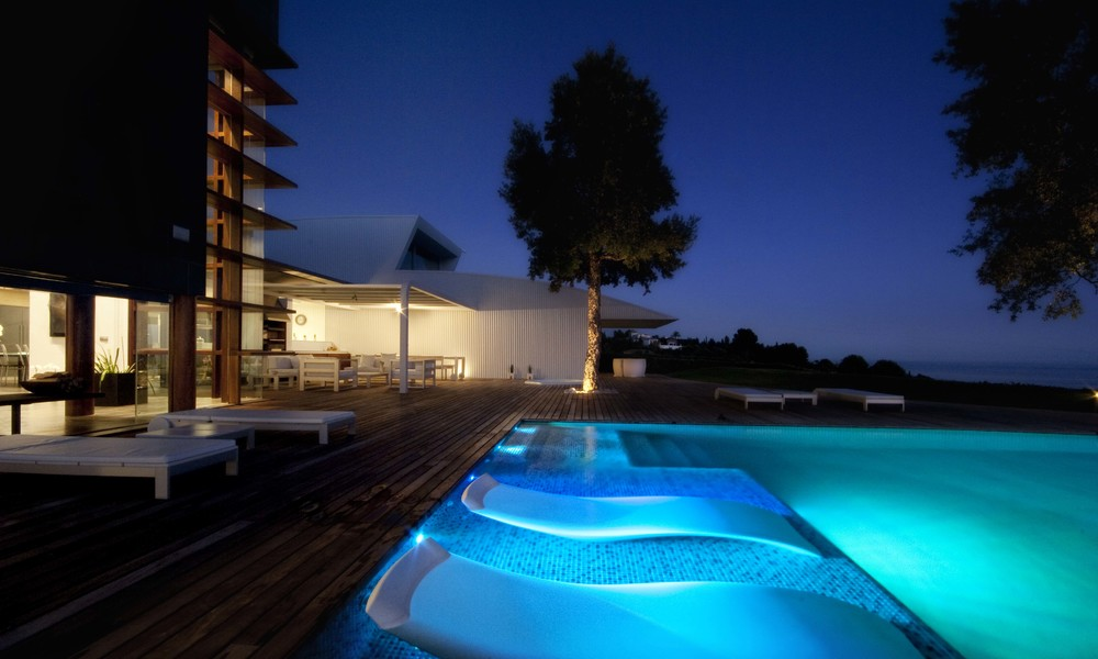 Minimalist modern contemporary designer villa for sale, spectacular sea views, Benalmadena, Costa del Sol 5154