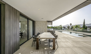 Impressive contemporary style luxury villa for sale in Nueva Andalucía, Marbella. Ready to move in and quality furnished. 15582