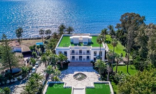 Prestigious palatial front line beach villa for sale, classic style, between Marbella and Estepona 5521