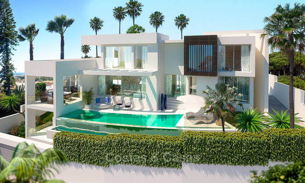 New modern contemporary luxury villa for sale, with sea and mountain views, Nueva Andalucia, Marbella 5527