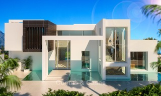 New modern contemporary luxury villa for sale, with sea and mountain views, Nueva Andalucia, Marbella 5529