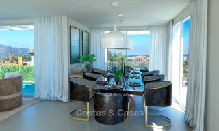 New modern contemporary luxury villa for sale, with sea and mountain views, Nueva Andalucia, Marbella 5530