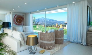 New modern contemporary luxury villa for sale, with sea and mountain views, Nueva Andalucia, Marbella 5531
