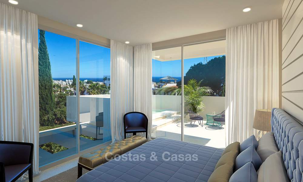 New modern contemporary luxury villa for sale, with sea and mountain views, Nueva Andalucia, Marbella 5534