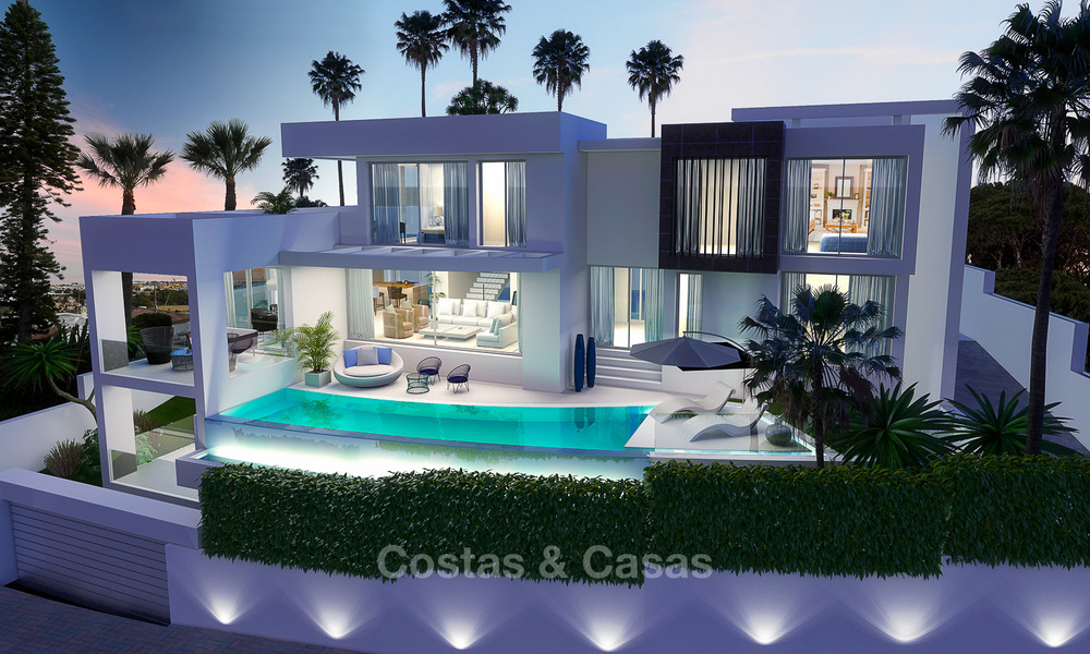 New modern contemporary luxury villa for sale, with sea and mountain views, Nueva Andalucia, Marbella 5535
