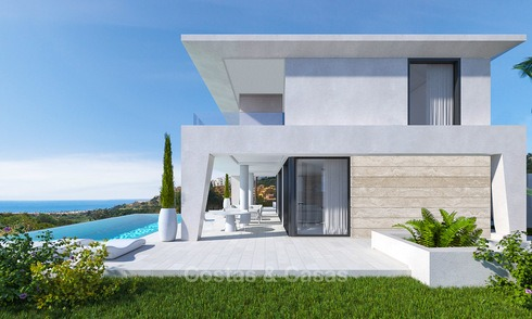 New modern, avant garde style villas with sea views for sale, La Duquesa, Manilva, Costa del Sol 5608
