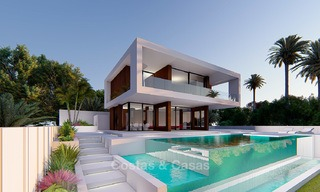 New modern luxury villa for sale, with sea and golf views, Estepona. 5611