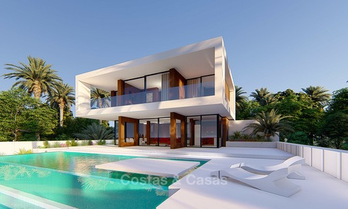 New modern luxury villa for sale, with sea and golf views, Estepona. 5612