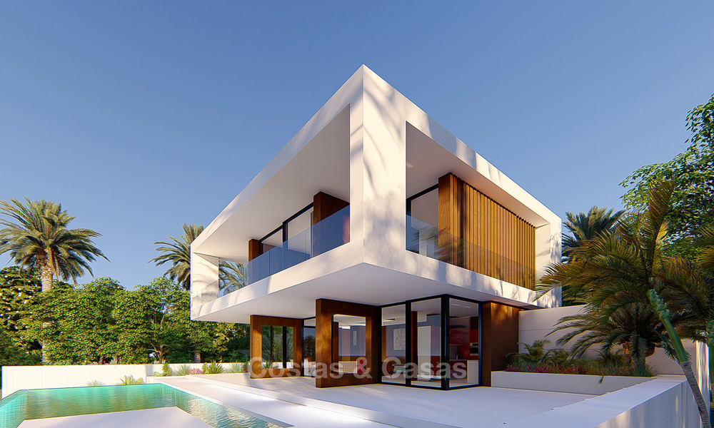 New modern luxury villa for sale, with sea and golf views, Estepona. 5613