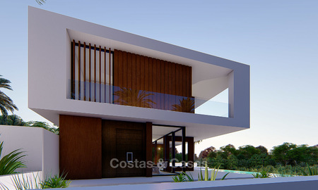 New modern luxury villa for sale, with sea and golf views, Estepona. 5614