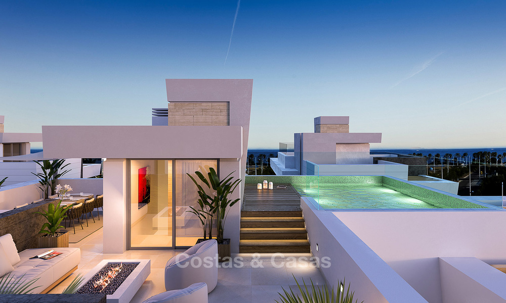 Captivating new luxury beachside villas for sale, contemporary style, San Pedro, Marbella 5618