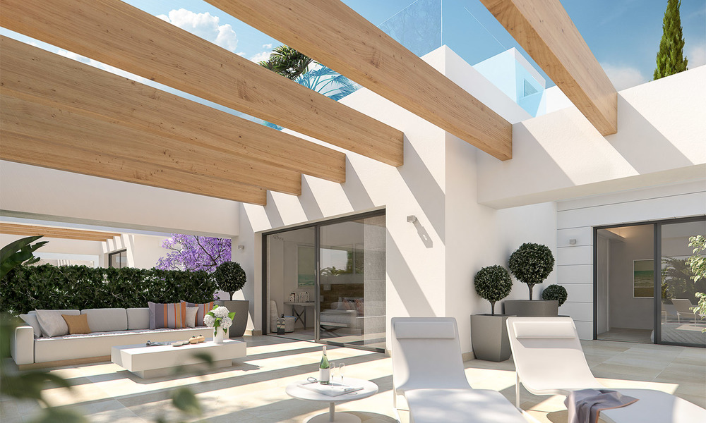 Captivating new luxury beachside villas for sale, contemporary style, San Pedro, Marbella 5622