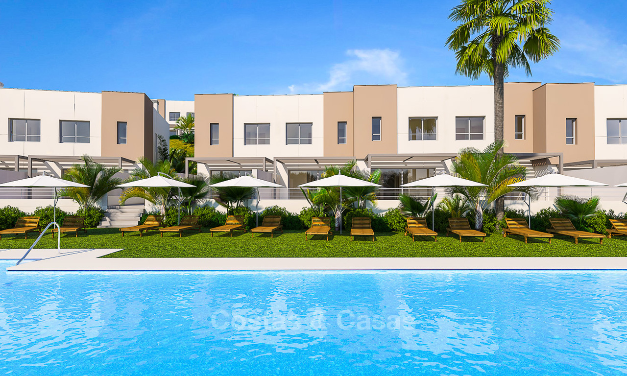 New, modern and exclusive golf townhouses with spectacular sea views for sale, Estepona 5680