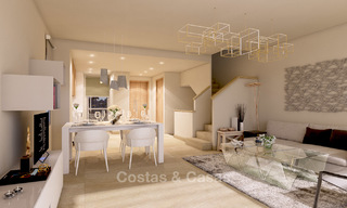New, modern and exclusive golf townhouses with spectacular golf views for sale in Estepona. Discount! 12145