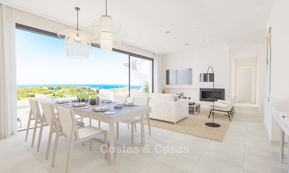 New avant-garde golf apartments and townhouses for sale, breath taking sea views, Casares, Costa del Sol 5715