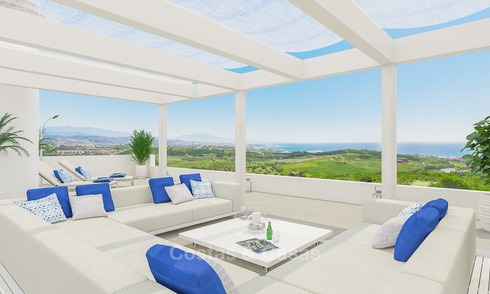 New avant-garde golf apartments and townhouses for sale, breath taking sea views, Casares, Costa del Sol 5723