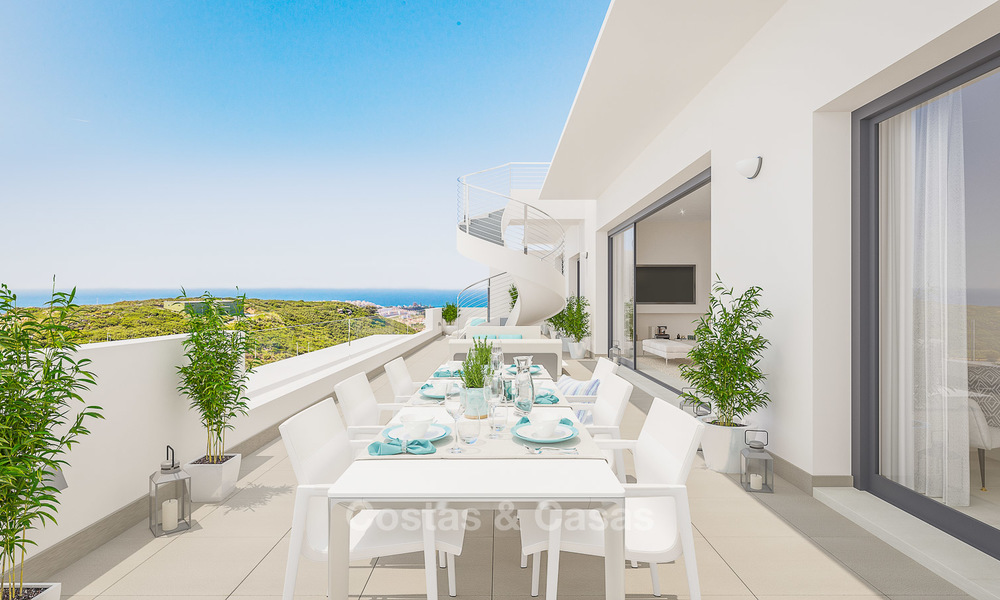 New avant-garde golf apartments and townhouses for sale, breath taking sea views, Casares, Costa del Sol 5725