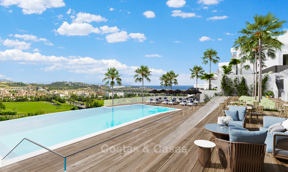 New modern frontline golf apartments for sale, La Cala de Mijas, Costa del Sol 5695
