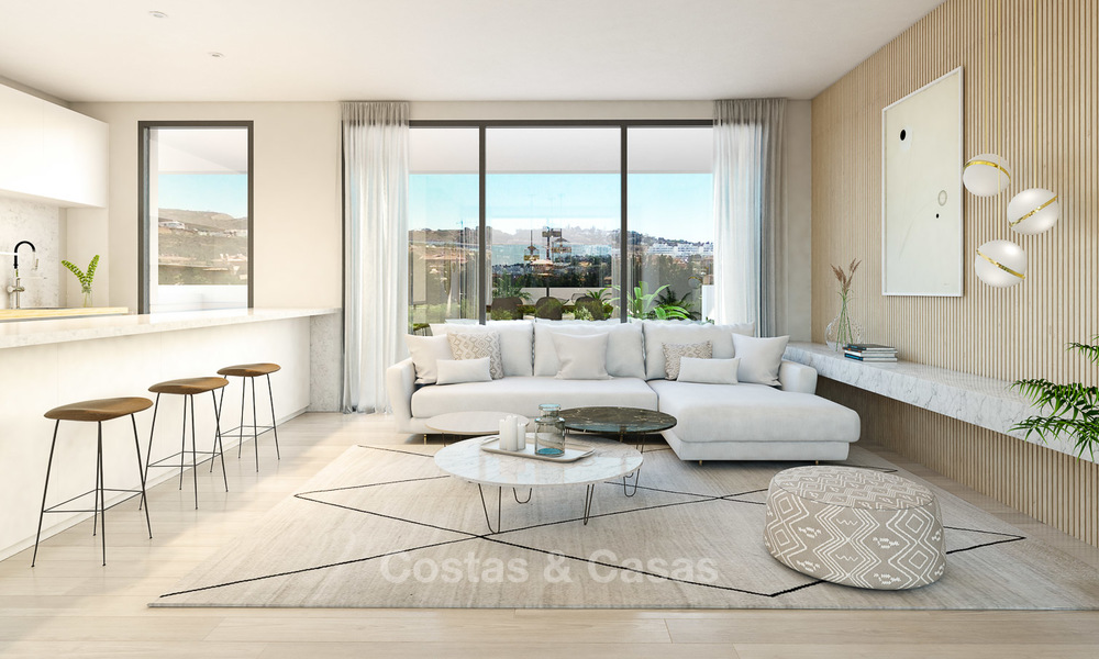 New modern frontline golf apartments for sale, La Cala de Mijas, Costa del Sol 5696